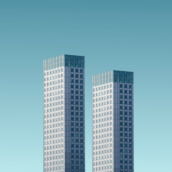 two tall buildings